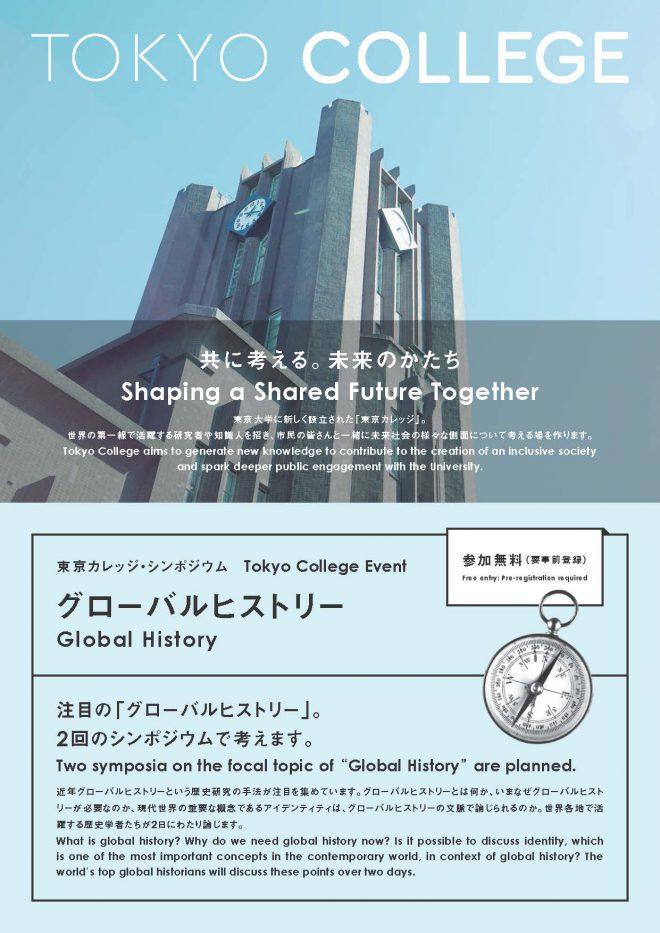 東京カレッジ・シンポジウム「グローバルヒストリー」