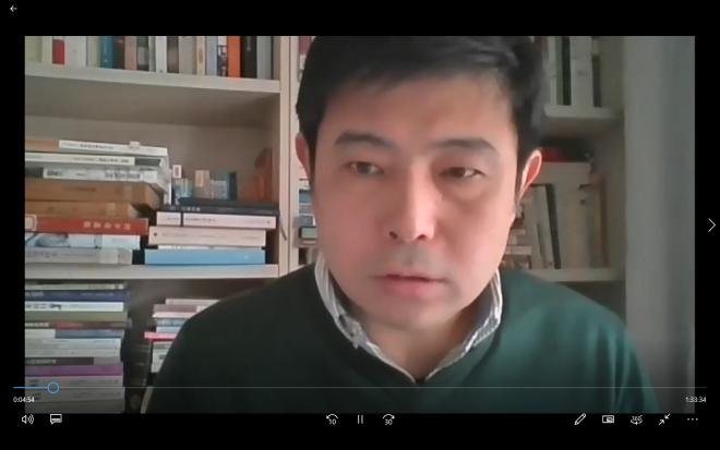姜涛氏講演会「「新たな抒情」――何其芳『夜歌』における「心境」と「仕事」」